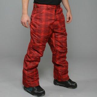 Zonal Men's 'Lumber' Red Snowboard Pants