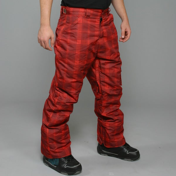 Zonal Men's 'Lumber' Red Snowboard Pants
