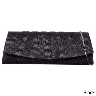 J. Furmani Pleated Sparkling Clutch