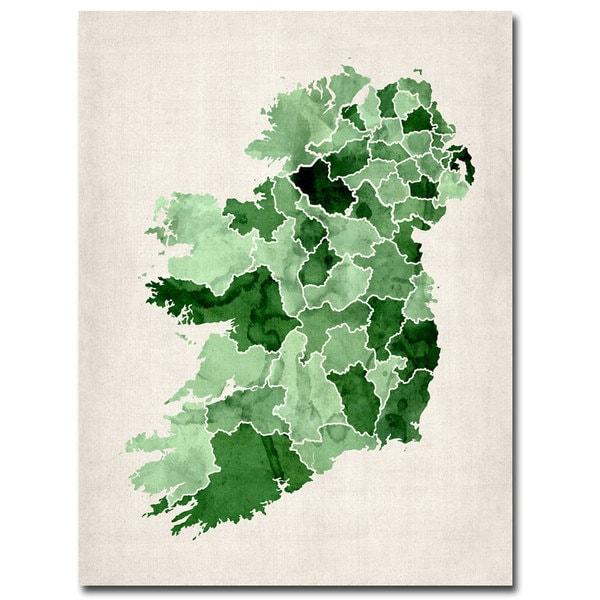Michael Tompsett 'Ireland Watercolor' Canvas Art