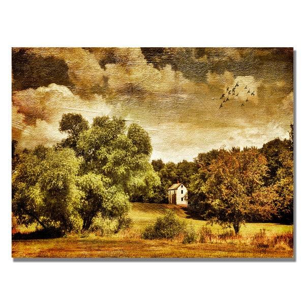 Lois Bryan 'Old Farm House' Canvas Art