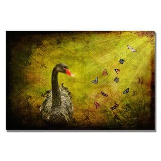 Lois Bryan 'Goose and Butterflies' Canvas Art