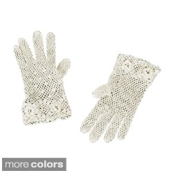 Saro Handmade Fine Crochet Lace Gloves