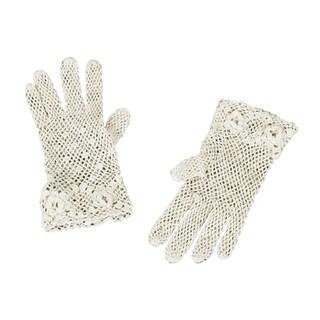 Saro Handmade Fine Crochet Lace Gloves (Option: Ivory)
