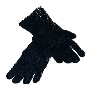Saro Handmade Machine Washable Fine Crochet Lace Gloves