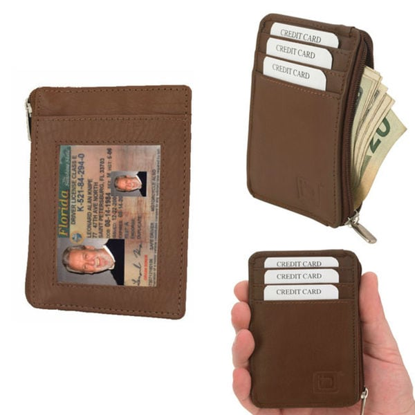 Identity Stronghold Genuine Leather RFID Blocking Wallet