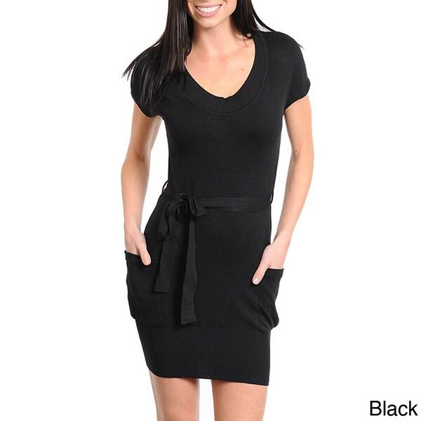 Stanzino Women's Sweater Fabric Mini Dress