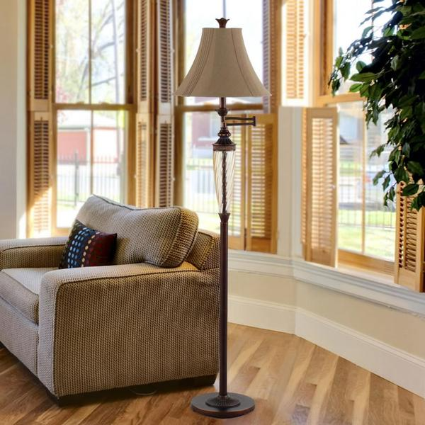 Waterford swingarm floor lamp free shipping today overstock waterford swingarm floor lamp aloadofball