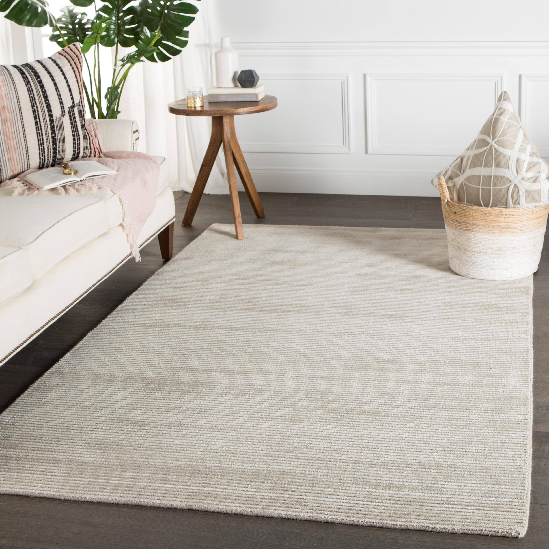 Phase Handmade Solid Light Gray Area Rug (5 X 8) - 5 x 8 (5 x 8 - Light Grey)