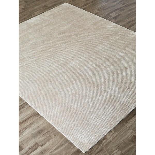 Solid Grey Area Rug Hand-loomed Solid Grey Wool/ Silk Rug (8' x 10') - Free ...