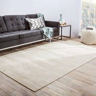 Phase Handmade Solid Light Gray Area Rug (8' X 10')