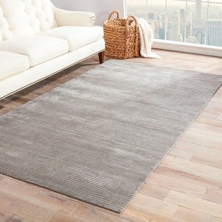 Phase Handmade Solid Gray/ Silver Area Rug (5' X 8')