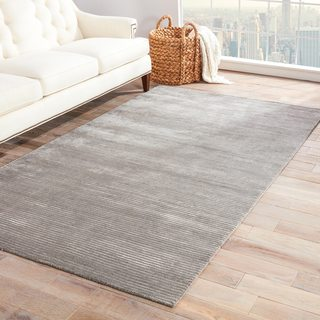 Phase Handmade Solid Gray/ Silver Area Rug (9' X 12')