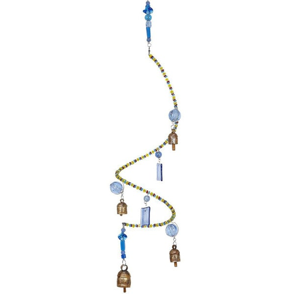 Handmade Great Balls of Blue Wind Chime (India)