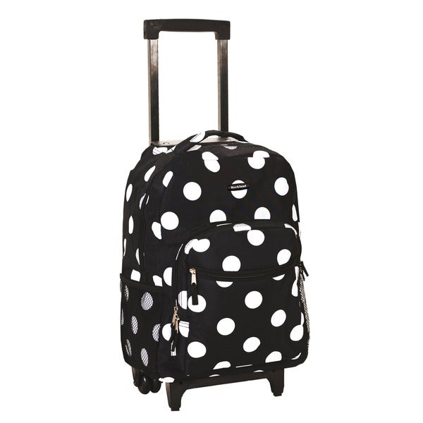 Rockland Designer Print 17-inch Rolling Carry-on Backpack