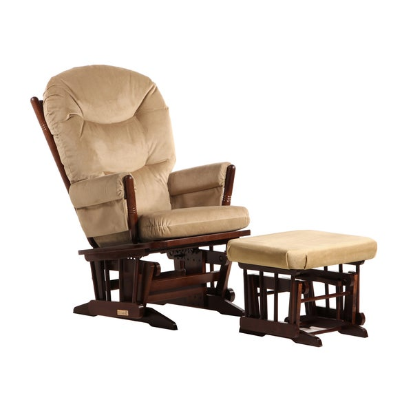Dutailier Coffee/ Light Brown Colonial Glider and Ottoman Set