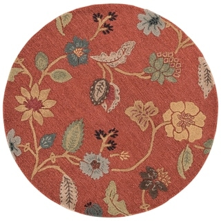 Bloomsbury Handmade Floral Red/ Multicolor Area Rug (8' X 8')