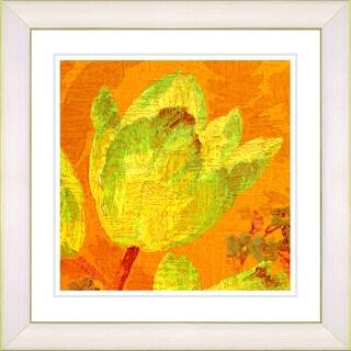 Studio Works Modern 'Golden Tulip - Yellow' Framed Giclee Print