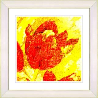 Studio Works Modern 'Golden Tulip - Red' Framed Giclee Print