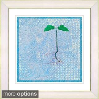 Studio Works Modern '6 Steps Off the Ground - Blue' Framed Giclee Print - Blue