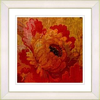 Studio Works Modern 'Symphony in Red - Dahlia' Framed Giclee Print - Multi