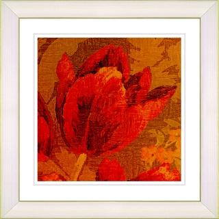 Studio Works Modern 'Symphony in Red - Tulip' Framed Giclee Print