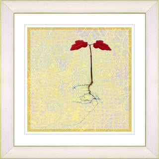Studio Works Modern '6 Steps Off the Ground - Yellow' Framed Giclee Print