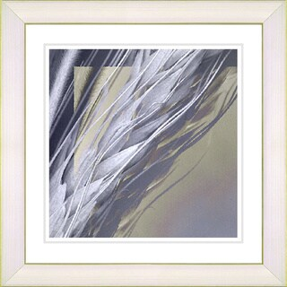Studio Works Modern 'Shaft of Wheat - Blue' Framed Giclee Print