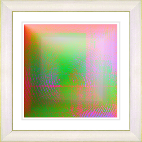 Studio Works Modern 'Colorfield Fingerprint' Framed Giclee Print