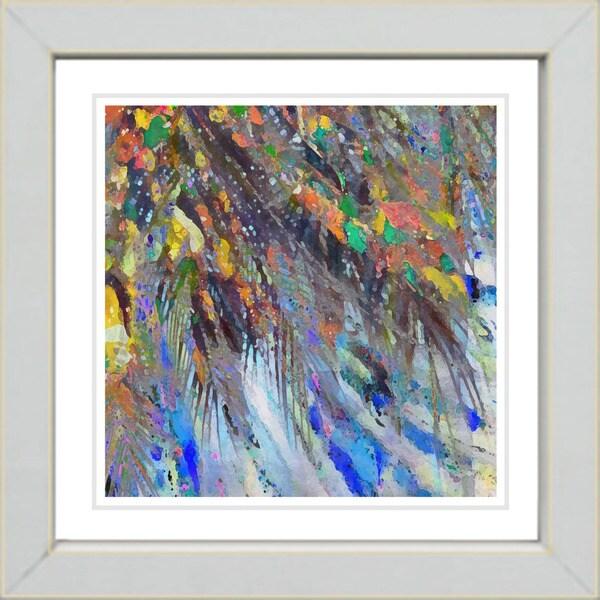 Studio Works Modern 'Tropical Palm Euphoria' Framed Giclee Print