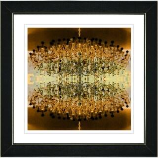 Studio Works Modern 'Amber Embracing Chandeliers' Framed Giclee Print