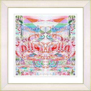 Studio Works Modern 'Stella Home - Red' Framed Giclee Print