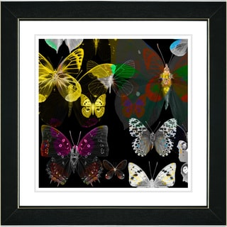 Studio Works Modern 'Butterfly Montage - Amber' Framed Print
