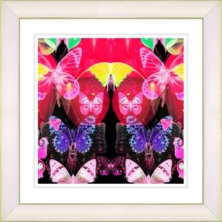 Studio Works Modern 'Butterfly Montage - Red' Framed Print