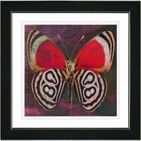Studio Works Modern 'Red Zebra Butterfly' Framed Print