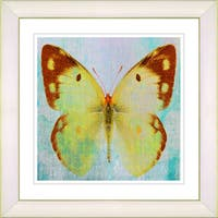 Studio Works Modern 'Yellow Butterfly' Framed Print