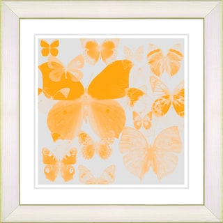 Studio Works Modern 'Butterfly Montage - Orange' Framed Print