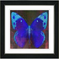 Studio Works Modern 'Blue Butterfly' Framed Print