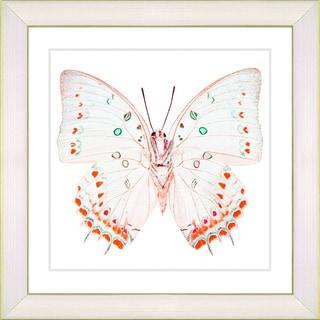 Studio Works Modern 'White Butterfly - Red' Framed Print