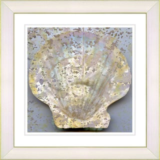 Studio Works Modern 'Yellow Sea Shell' Framed Print