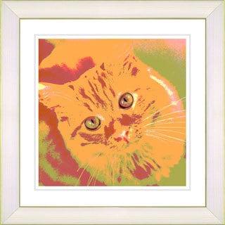 Studio Works Modern 'Mr. Morris the Cat' Framed Print