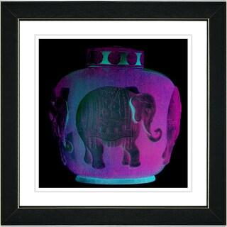 Studio Works Modern 'Purple Elephant Urn' Framed Print