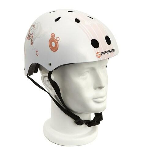 Punisher Skateboards Cherry Blossom Medium 11-Vent Skateboard Helmet
