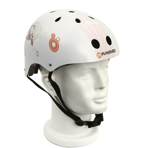 Punisher Skateboards Cherry Blossom Medium 11-Vent Skateboard Helmet
