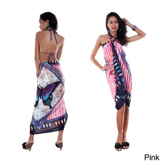 1 World Sarongs Women's Butterfly Sarong in your choice of Color (Indonesia)