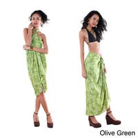 1 World Sarongs Women's Butterfly Fringed Sarong (Indonesia)