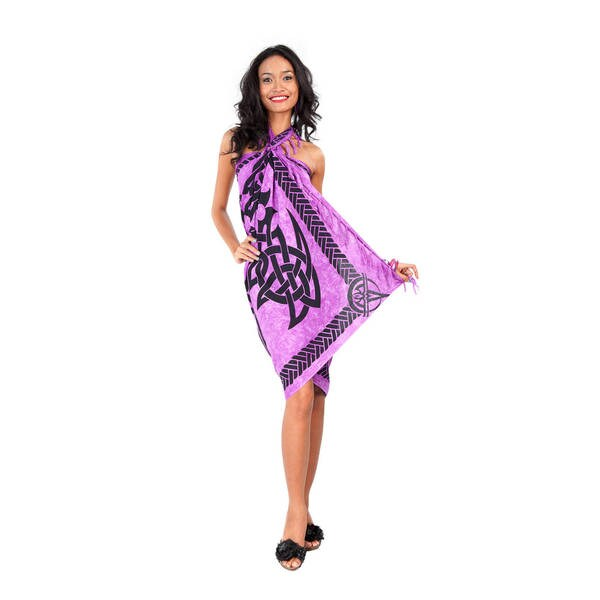 Handmade 1 World Sarongs Women's Celtic Fringed Sarong (Indonesia)