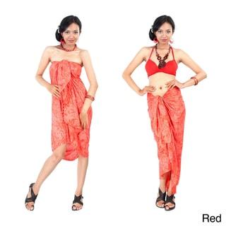1 World Sarongs Women's Hibiscus Flower Sarong (Indonesia)