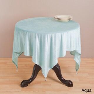 Saro 54-inch Square Velvet Table Topper