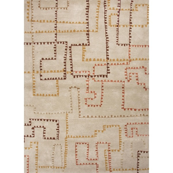 Contemporary Hand-Tufted Wool/Silk Rug (8' x 11')